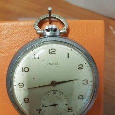 Relojes: RELOJ DE BOLSILLO (VINTAGE) MARCA HANSA SUIZO 15 RUBÍS CALIBRE BUSER 96 CON SEGUNDERO A LAS 6 HORAS. Lote 88789116