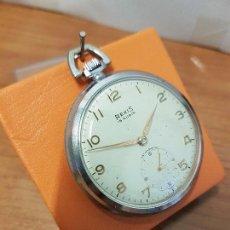 Relojes: RELOJ DE BOLSILLO (VINTAGE) REXIS UT 285 DE CUERDA MANUAL SUIZO ANTIMAGNETIC CON SEGUNDERO 6 HORAS. Lote 88794060