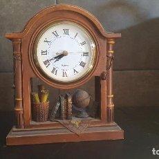Relojes: PRECIOSO RELOJ DE MESA CON PILA. 20,5X16X6 CM.. Lote 89745884