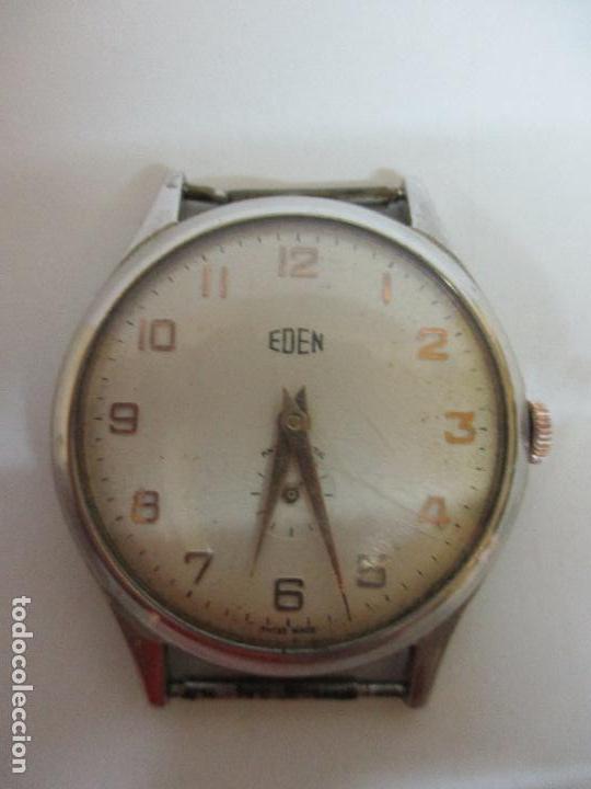 ANTIGUO RELOJ DE PULSERA - A CUERDA - MARCA EDEN ANTIMAGNETIC - SWISS MADE - FUNCIONA - AÑOS 50 (Relojes - Relojes Actuales - Otros)