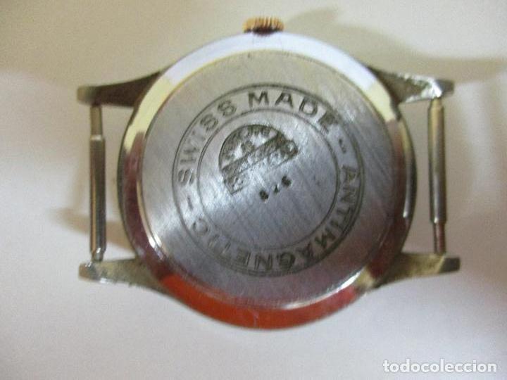 Relojes: Antiguo Reloj de Pulsera - a Cuerda - Marca Eden Antimagnetic - Swiss Made - Funciona - Años 50 - Foto 5 - 90333212