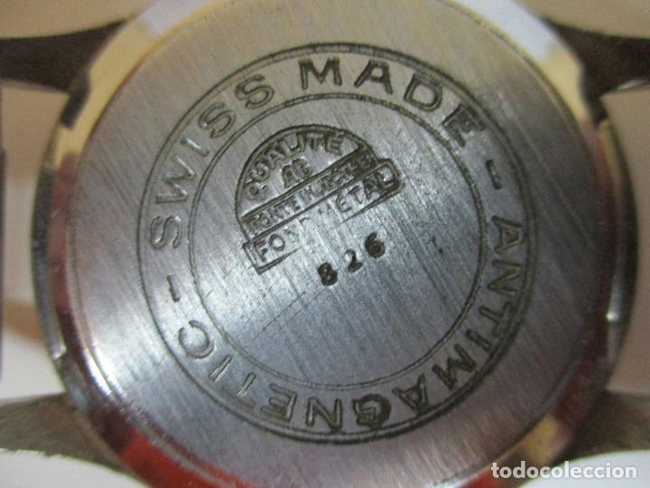Relojes: Antiguo Reloj de Pulsera - a Cuerda - Marca Eden Antimagnetic - Swiss Made - Funciona - Años 50 - Foto 6 - 90333212