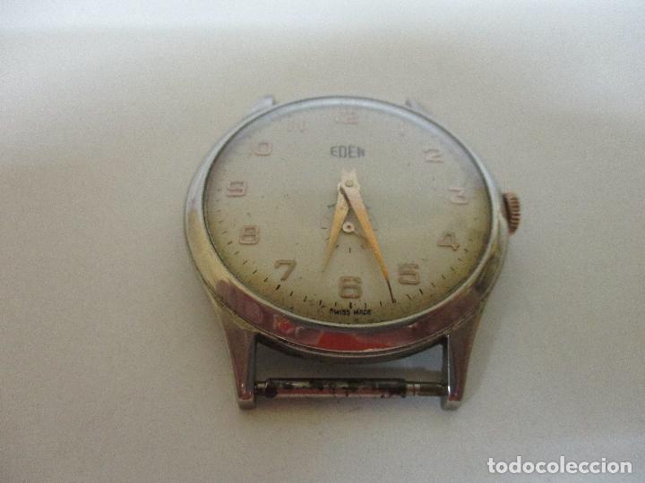 Relojes: Antiguo Reloj de Pulsera - a Cuerda - Marca Eden Antimagnetic - Swiss Made - Funciona - Años 50 - Foto 7 - 90333212