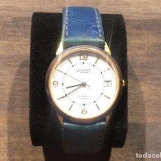 Relojes: RELOJ DE PULSERA DE CABALLERO - ASCOT - QUARTZ - BANDA DE CUERO. Lote 91766815