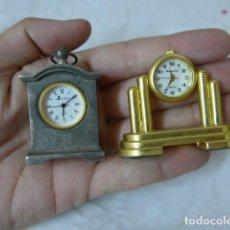 Relojes: LOTE 2 RELOJ PEQUEÑO, EN MINIATURA. DESCONOZCO DEL TEMA.. Lote 92276900