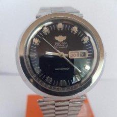 Relojes: RELOJ DE CABALLERO (VINTAGE) RICOH AUTOMÁTICO CON DOBLE CALENDARIO A LAS TRES CRISTAL SIN RAYAS.. Lote 92325990
