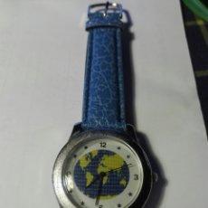 Relojes: RELOJ FONDO MUNDO CORREA PIEL. Lote 94873603