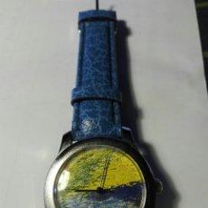 Relojes: RELOJ FONDO CUADRO CORREA PIEL. Lote 94873706