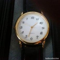 Relojes: RELOJ PARA ZURDOS - FUNCIONA EN SENTIDO CONTRARIO - CORREA DE PIEL. Lote 94918323