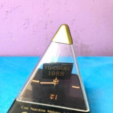 Relojes: RELOJ CON PUBLICIDAD ORIENT - FELICIDADES 1988 - DE UNA RELOJERIA. Lote 95077275