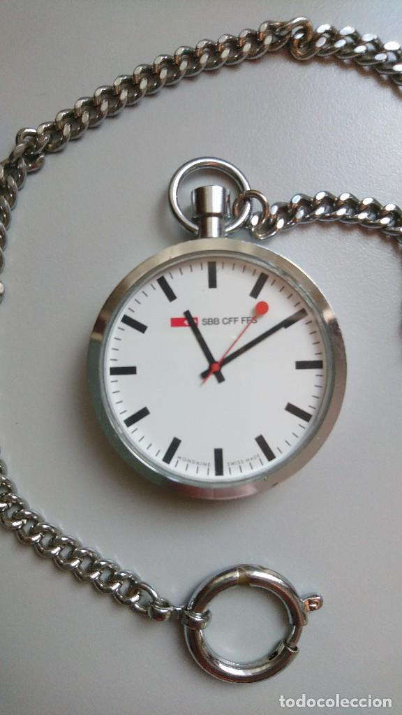 b29d65677920 Reloj de bolsillo mondaine oficial ferrocarril - Vendido en Venta ...