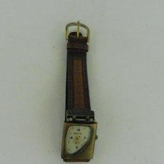 Relojes: RELOJ REPRODUCCION TIPO TROPHY HOMBRE CORREA DE CUERO ESFERA CON MARCO BRONCE DE 2,5 X 3 CM F552. Lote 95596159