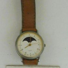 Relojes: RELOJ DE HOMBRE MARCA QUARTZ CORREA DE CUERO CON BROCHE ESFERA DE 3 CM DE DIAMETRO F553. Lote 95650675