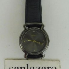 Relojes: RELOJ DE MUJER MARCA QUARTZ - MANDY CORREA DE CUERO NEGRA CON 6 ORIFICIOS 2,5 CM DE DIAMETRO F554. Lote 95652451