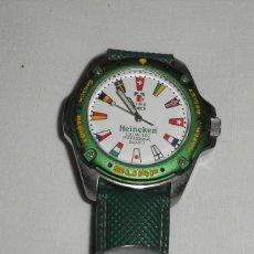 Relojes: RELOJ TIME FORCE OFICIAL HEINEKEN CON BANDERAS. Lote 96696571