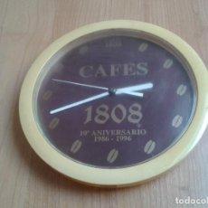 Relojes: RELOJ VINTAGE PROMOCIONAL - CAFÉS 1808 - AÑOS 90 - CONMEMORATIVO - 10º ANIVERSARIO. Lote 99560783