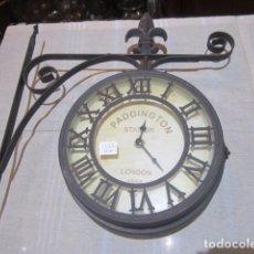 Relojes: RELOJ ESTACIÓN DE PADDINGTON. RÉPLICA EN HIERRO. 20 CMS. DIÁMETRO.. Lote 97358359