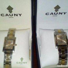 Relojes: PAREJA RELOJES CAUNI CABALLERO Y SRA. Lote 97410051