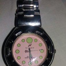 Relojes: RELOJ MARCA NASHY QUARTZ WATER RESISTANT DE CABALLERO. Lote 98903222