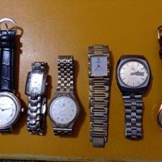 Relojes: LOTE DE SEIS RELOJES DIVERSOS. A CLASIFICAR Y REVISAR. LOS DE LA FOTO.. Lote 99151635