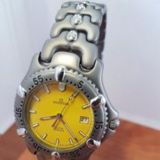 Relojes: RELOJ CABALLERO CUARZO MINISTER TITANIO CON CALENDARIO A LAS TRES HORAS, CORREA DE TITANIO ORIGINAL . Lote 99219415