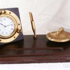 Relojes: ESCRIBANIA MARINERA CON RELOJ QUARTZ. Lote 100227735