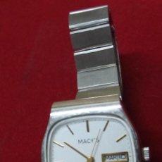 Relojes: RELOJ MACY'S DE CUARZO. Lote 100230763