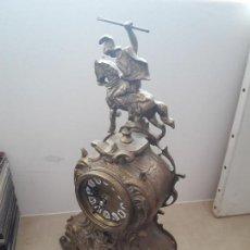 Relojes: PRECIOSO RELOJ SOBREMESA EN METAL BRONCE VER FOTOS Y DESCRIPCION. Lote 100259547