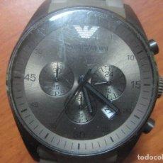 Relojes: RELOJ DE PULSERA DE HOMBRE EMPORIO ARMANI AR-5950 CRONOGRAFO ACERO INOX CON REVESTIMIENTO SILICONA. Lote 100708203