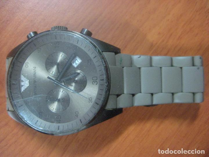 Relojes: RELOJ DE PULSERA DE HOMBRE EMPORIO ARMANI AR-5950 CRONOGRAFO ACERO INOX CON REVESTIMIENTO SILICONA - Foto 2 - 100708203