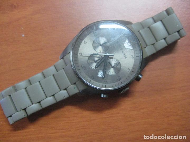 Relojes: RELOJ DE PULSERA DE HOMBRE EMPORIO ARMANI AR-5950 CRONOGRAFO ACERO INOX CON REVESTIMIENTO SILICONA - Foto 3 - 100708203