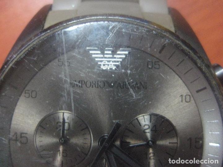 Relojes: RELOJ DE PULSERA DE HOMBRE EMPORIO ARMANI AR-5950 CRONOGRAFO ACERO INOX CON REVESTIMIENTO SILICONA - Foto 4 - 100708203