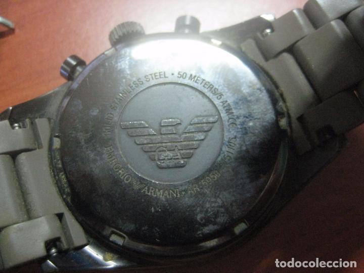 Relojes: RELOJ DE PULSERA DE HOMBRE EMPORIO ARMANI AR-5950 CRONOGRAFO ACERO INOX CON REVESTIMIENTO SILICONA - Foto 5 - 100708203