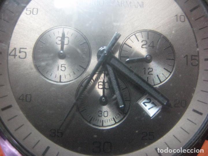 Relojes: RELOJ DE PULSERA DE HOMBRE EMPORIO ARMANI AR-5950 CRONOGRAFO ACERO INOX CON REVESTIMIENTO SILICONA - Foto 7 - 100708203