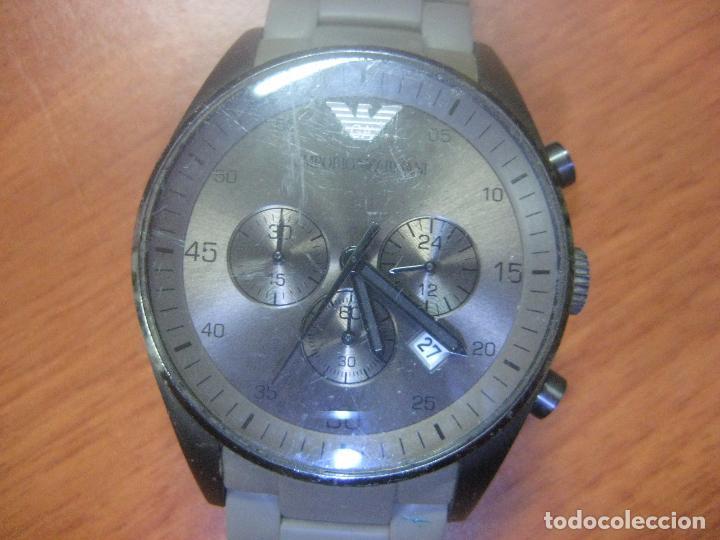 Relojes: RELOJ DE PULSERA DE HOMBRE EMPORIO ARMANI AR-5950 CRONOGRAFO ACERO INOX CON REVESTIMIENTO SILICONA - Foto 9 - 100708203
