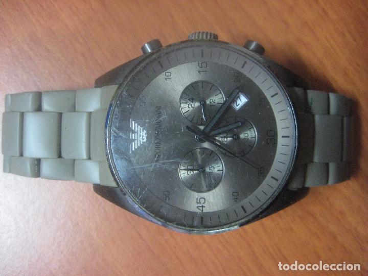 Relojes: RELOJ DE PULSERA DE HOMBRE EMPORIO ARMANI AR-5950 CRONOGRAFO ACERO INOX CON REVESTIMIENTO SILICONA - Foto 10 - 100708203