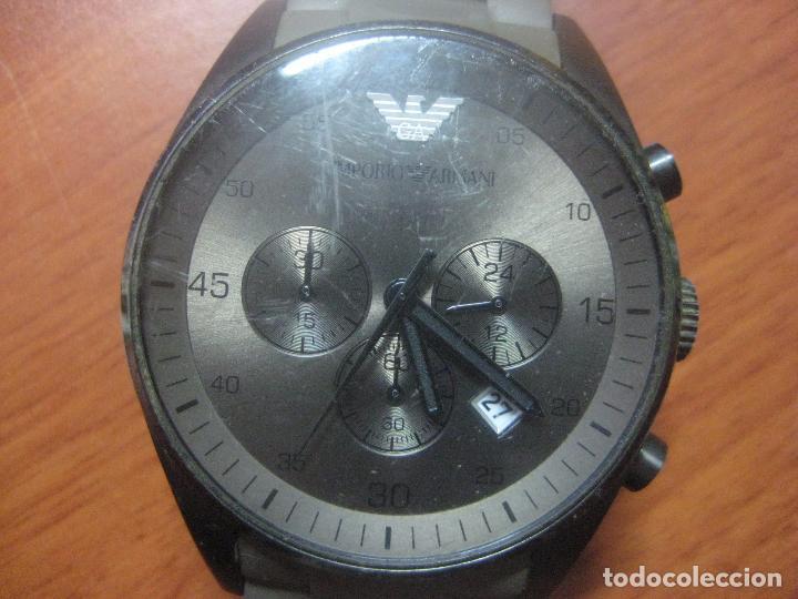 Relojes: RELOJ DE PULSERA DE HOMBRE EMPORIO ARMANI AR-5950 CRONOGRAFO ACERO INOX CON REVESTIMIENTO SILICONA - Foto 12 - 100708203