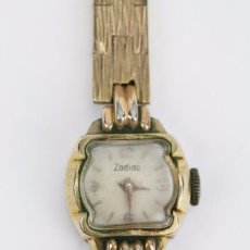 Relojes: ANTIGUO RELOJ DE PULSERA PARA NIÑA - ZODIAC - CHAPADO EN ORO - AÑOS 30-40 - FUNCIONANDO. Lote 101618063