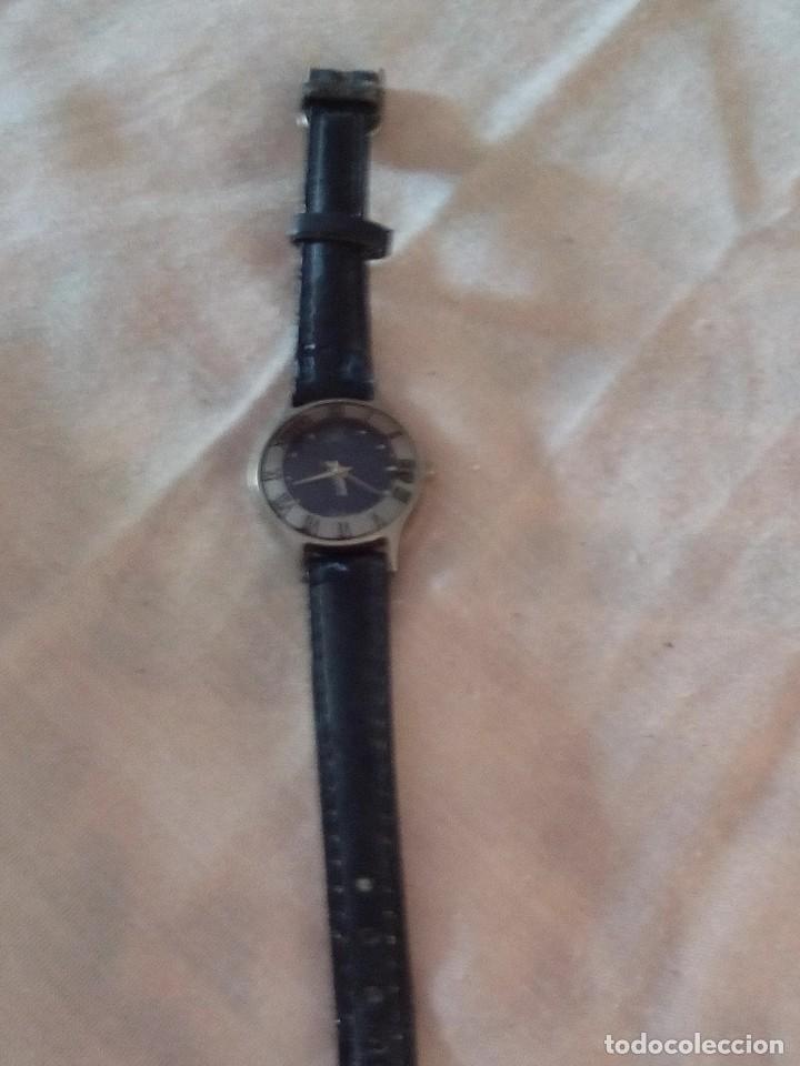 Relojes: reloj geneva quartz con correa de cuero negra. - Foto 4 - 101650327