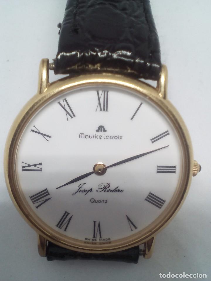 RELOJ MAURICE LACROIX CAJA DE ORO DE 18 KT FUNCIONANDO PESO TOTAL 21GR (Relojes - Relojes Actuales - Otros)