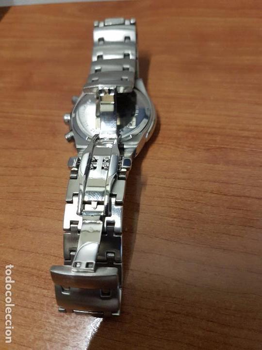 Relojes: Reloj caballero marca KALTER acero cronografo 100 metros de cuarzo, correa de acero original - Foto 6 - 102378647