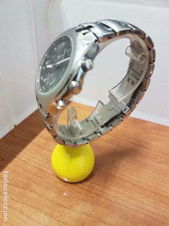 Relojes: Reloj caballero marca KALTER acero cronografo 100 metros de cuarzo, correa de acero original - Foto 9 - 102378647