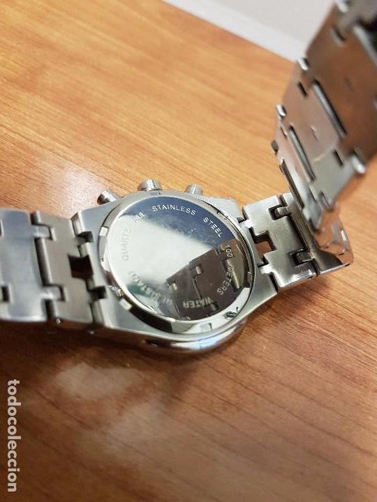 Relojes: Reloj caballero marca KALTER acero cronografo 100 metros de cuarzo, correa de acero original - Foto 10 - 102378647