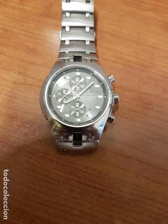 Relojes: Reloj caballero marca KALTER acero cronografo 100 metros de cuarzo, correa de acero original - Foto 11 - 102378647