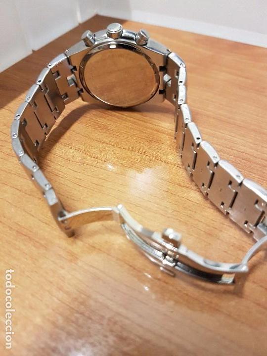 Relojes: Reloj caballero marca KALTER acero cronografo 100 metros de cuarzo, correa de acero original - Foto 15 - 102378647