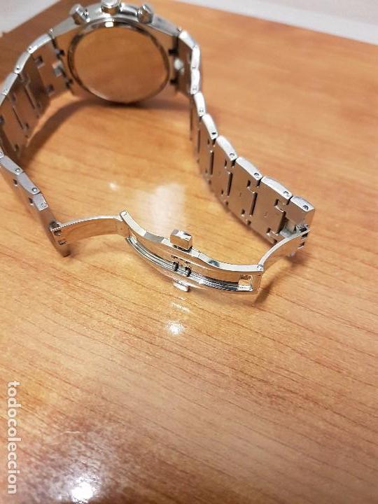 Relojes: Reloj caballero marca KALTER acero cronografo 100 metros de cuarzo, correa de acero original - Foto 17 - 102378647