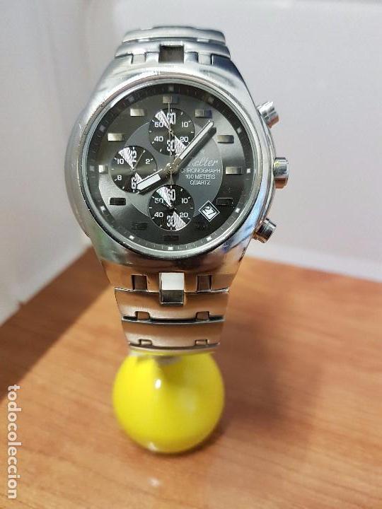 Relojes: Reloj caballero marca KALTER acero cronografo 100 metros de cuarzo, correa de acero original - Foto 21 - 102378647
