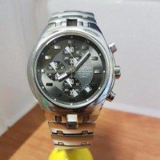 Relojes: RELOJ CABALLERO MARCA KALTER ACERO CRONOGRAFO 100 METROS DE CUARZO, CORREA DE ACERO ORIGINAL. Lote 102378647