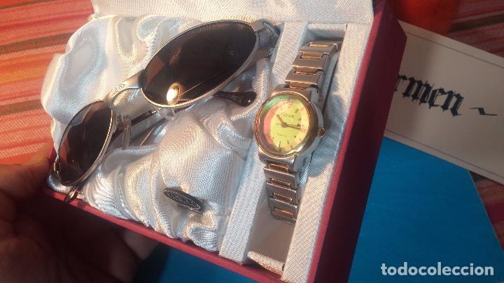 Relojes: Botito conjunto formado por reloj y gafas, stop de tienda, P.V.P en su día de 250 dolares - Foto 4 - 102402191
