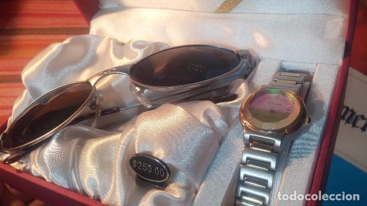 Relojes: Botito conjunto formado por reloj y gafas, stop de tienda, P.V.P en su día de 250 dolares - Foto 6 - 102402191